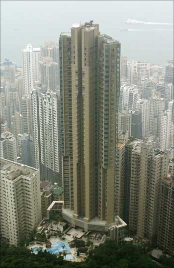 Hong Kong's luxury apartment.