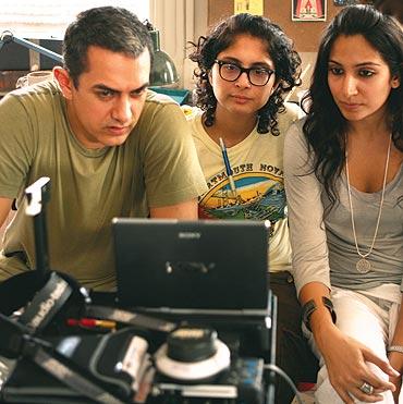 Aamir Khan, Kiran Rao and Monica Dogra