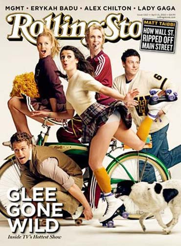 The cast of Glee on Rollling Stone magazine cover