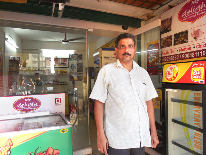 Suhas Jadhav, a retailer in Santa Cruz, hopes inflation will be controlled.