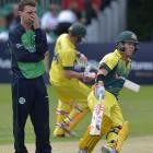 Australia beat Ireland in rain affected ODI
