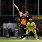 Warner inspires Sunrisers to victory over Chennai Super Kings