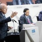 Blatter calls for unity at FIFA congress before polls