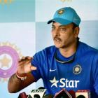 Shastri tells Aussies to shut up