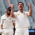 Day-night Test, PHOTOS: Kiwis dismissed for 202 after Starc limps off