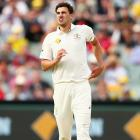 Starc limps off the historic day-night Test