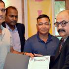 Dhoni felicitated with resolution in his honour in New Jersey