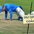 PHOTOS: Dhoni takes leadership role as Kohli skips nets