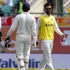 Dharamsala Test: Kohli brings teammates drinks, Twitter goes crazy!