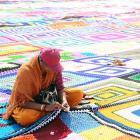 In pics: World's largest crochet blanket