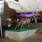 Sensex opens in red; Hindalco, ICICI Bank slip