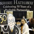 Buffett celebrates 50th yr at Berkshire, faces tough questions