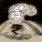 Rupee's free fall continues, plunges 26 paise to 67.75