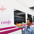High-speed Spanish Talgo train hits the tracks