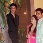 PIX: Shah Rukh, Akshay Kumar party with Bachchans