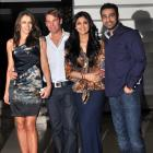 PIX: Shane Warne, Liz Hurley party with Shilpa Shetty