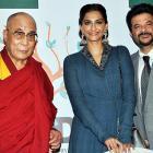 Anil Kapoor, Sonam, Raveena meet the Dalai Lama
