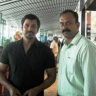 Spotted: Tamil actor Vikram at Hyderabad airport