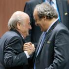 Ethics body suspends Blatter, Platini from world football