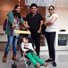 Spotted: Actors Ali Asgar, Sumona Chakravarti at Munich airport