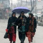 Fresh snowfall and rain in parts of Kashmir