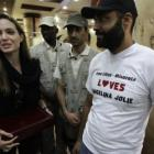PICS: Angelina Jolie visits Libya to help aid agencies
