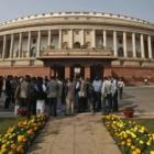 Five Cong Telangana MPs protest outside Parliament
