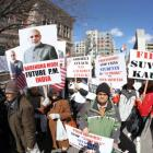 Modi backers stage 'funeral of free speech' near Wharton