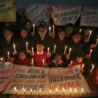 Indian students pay silent tribute to victims of Peshawar tragedy