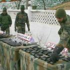 Huge cache of arms, ammunition recovered in Kashmir