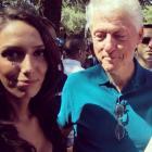 Former US president sneaks a peek down woman's top