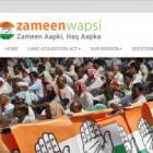 Congress launches website to counter NDA's land bill