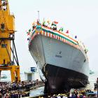 INS Visakhapatnam, Navy's new stealth destroyer, launched