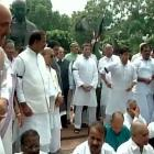 Cong protests for second day against MPs' suspension
