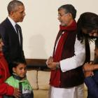 When Nobel laureates Obama and Satyarthi met