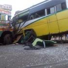 MP: 21 dead as bus collides with truck