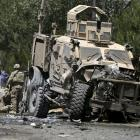 Suicide bomber attacks NATO convoy in Kabul, 17 wounded
