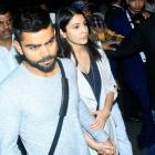PHOTOS: Kohli, Anushka land in Mumbai hand-in-hand
