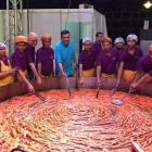 Sugar rush! At 9 feet, this is the world's largest jalebi