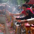 PHOTOS: Kashmiri Pandits flood Kheer Bhawani temple