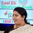 At Modi@1 talkathon, 'straight-talking' Smriti educates one and all