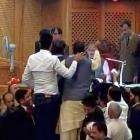 Chaos in J & K assembly; Omar claims Speaker is biased