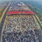 'CAR'MAGGEDON: China's MASSIVE 50-lane traffic jam