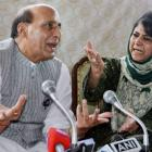 Mehbooba loses her cool at press meet, leaves with Rajnath Singh still seated
