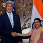 John Kerry meets Sushma Swaraj, lauds India-US defence ties