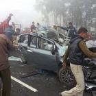PHOTOS: 30-car pile-up on Haryana highway due to fog