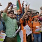 ABVP protests Afzal Guru event at JNU, 90 detained