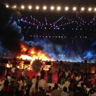 Massive fire breaks out on stage at 'Make in India' week event in Mumbai