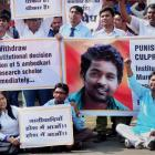 Vemula death anniversary: Protesters clash with police outside Hyderabad University