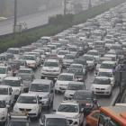 Rains, traffic snarls bring Gurugram to a grinding halt